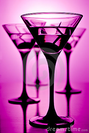 Martini on purple
