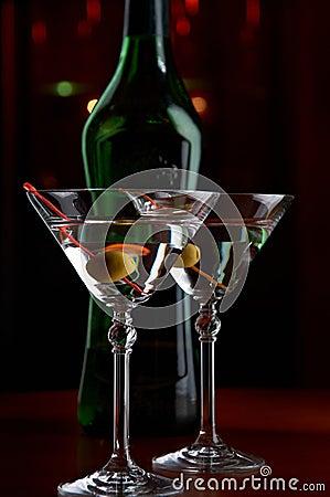 Free Martini Served Royalty Free Stock Photo - 18873915
