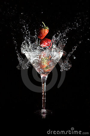 Martini strawberry
