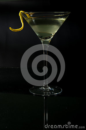 Martini with a twist on black