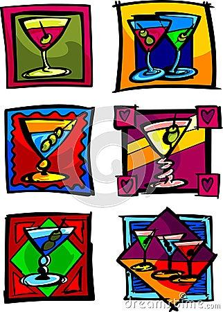 Martini Vector Illustrations