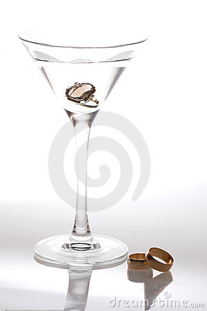 Martini and wedding bands