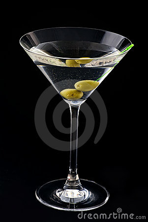 Free Martini With Olive Royalty Free Stock Photo - 10526465