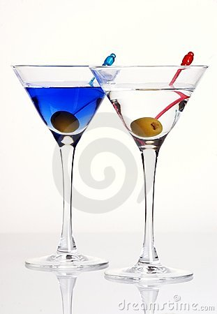 Free Martini With Olive Stock Photo - 5342950
