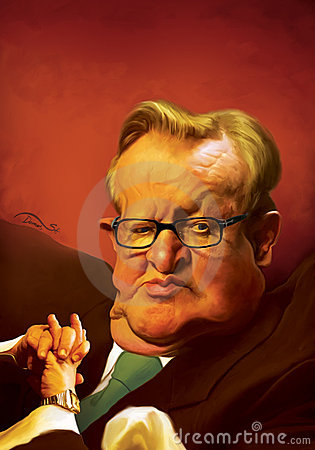 Martti Ahtisaari Caricature Editorial Photography