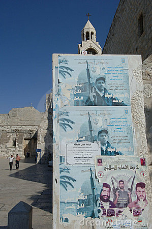 Martyr Posters in Bethlehem Editorial Photo