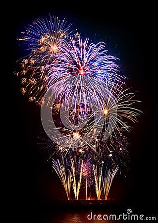 Free Marvelous Fireworks Display Royalty Free Stock Image - 36018536