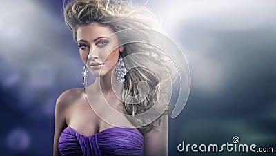 Marvelous glance of sexy blond lady