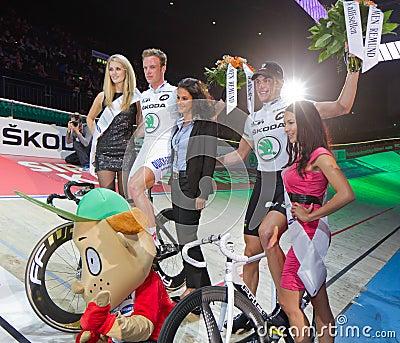 Marvulli (r.) Keisse celebrates victory Editorial Photo