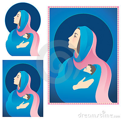 Mary en Jesus Nativity