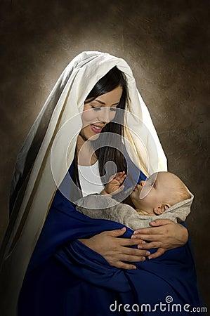 Free Mary & Jesus Royalty Free Stock Photography - 18633427