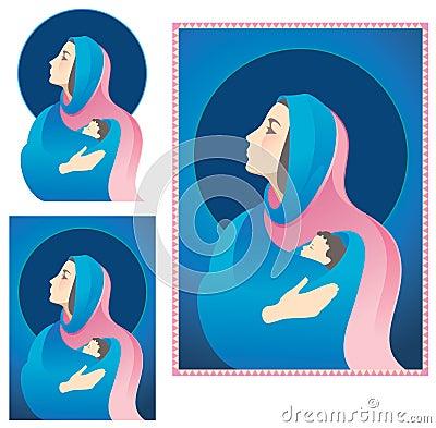 Mary and Jesus Nativity