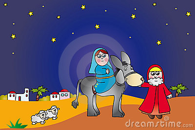 Mary And Joseph To Bethlehem Stock Photography - Image: 11532712