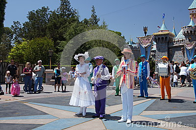 Mary Poppins and Bert at Disneyland Editorial Photo