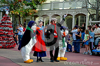 Mary Poppins on Parade at Disney World Editorial Photography