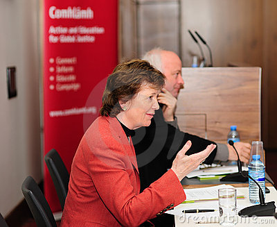 Mary Robinson and Niall Crowley Editorial Stock Photo
