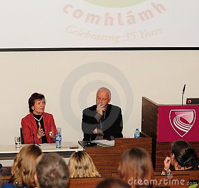 Mary Robinson and NIALL Crowley Editorial Image