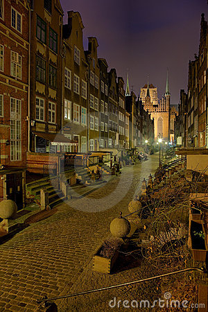 Mary s Street in Gdansk