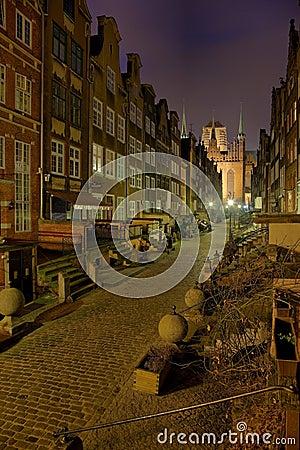 Mary s Street in Gdansk
