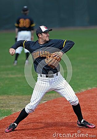 Maryland Baseball - Tomo Delp throws the ball