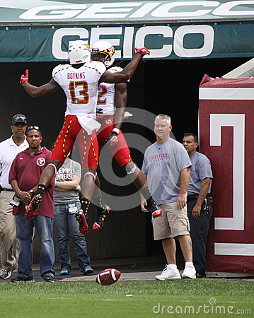 Maryland players jump high Editorial Photo