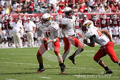 Maryland Quarterback # 11 Perry Hills Editorial Image