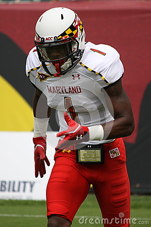 Maryland receiver#1 Stefon Diggs Editorial Stock Image
