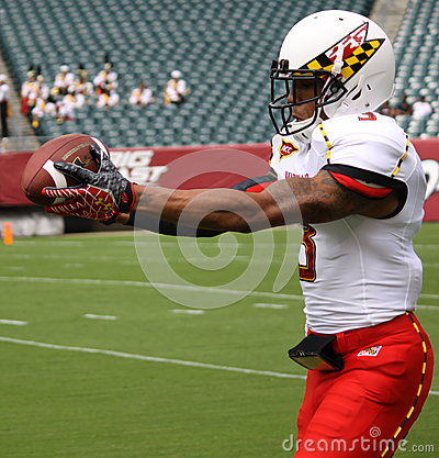 Maryland receiver#3 Nigel King Editorial Stock Photo