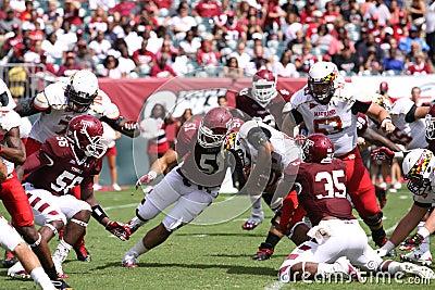Maryland running back #44 Justus Pickett Editorial Stock Image