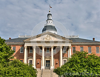 Maryland State House in Annapolis, Maryland