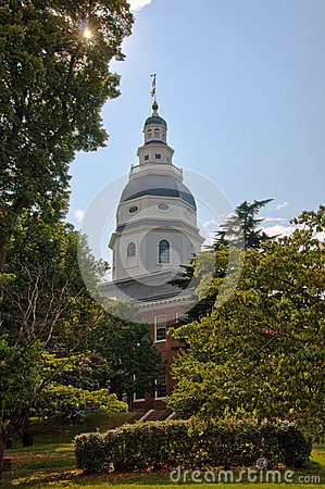 Maryland State House Dome in Annapolis, Maryland