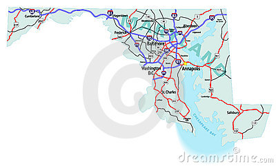Maryland State Interstate Map