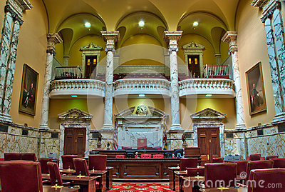 Maryland State Senate Chamber in Annapolis Editorial Stock Photo