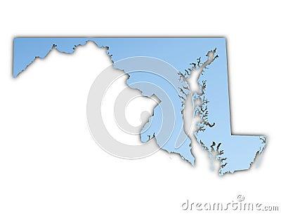 Maryland(USA) map