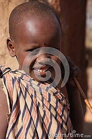 Masai Boy Editorial Stock Photo