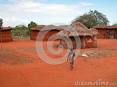 Masai child Editorial Image