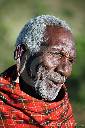 Masai Elder (Kenya) Editorial Photo