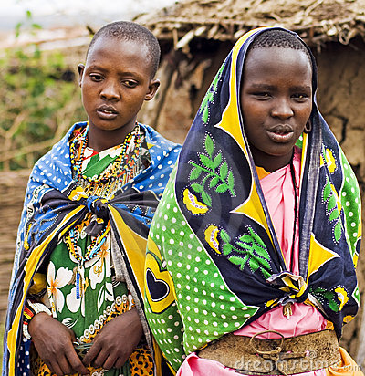 Masai girls Editorial Stock Image