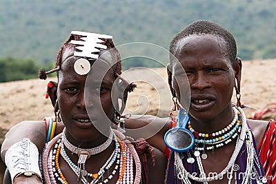 Masai men Editorial Image