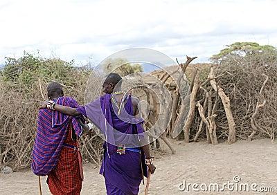 Masai men Editorial Photography