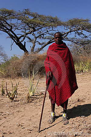 Masai sheperd Editorial Stock Image