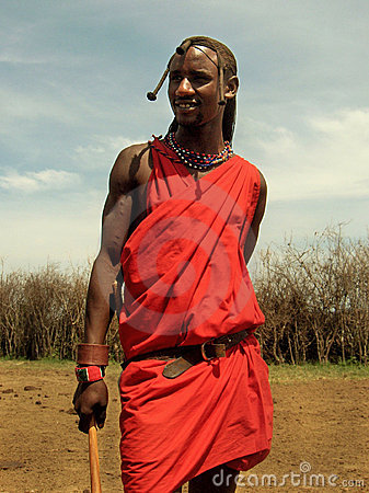 Masai Tribesman In Masai-Mara Stock Images - Image: 20861064