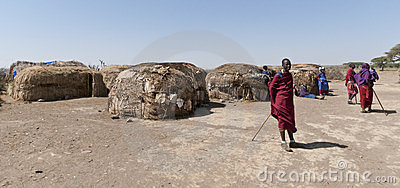 Masai village Editorial Image