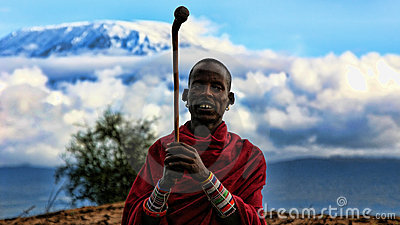 Masai Warrior Editorial Image