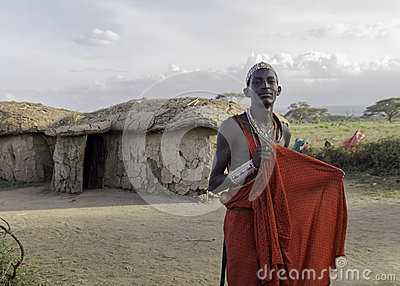 Masai Warrior Editorial Stock Photo