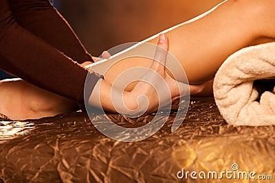 Masaje de la pierna