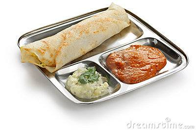 Masala dosa, south indian food