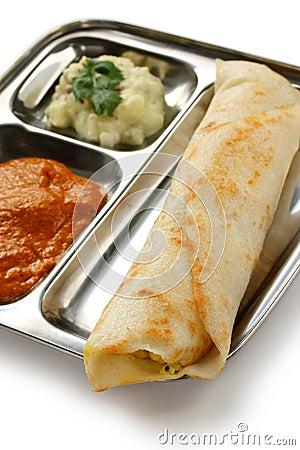 Masala dosa, south indian food