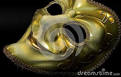 Mascherina dorata