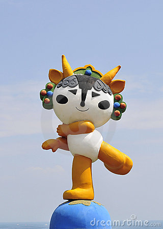 Mascot of beijing olympic Editorial Stock Image